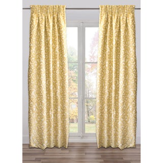 Marmara Gold Cotton-blend Fully Adjustable Small Drape Panel