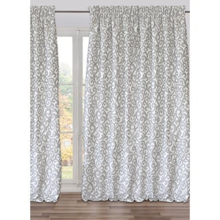 Ready-Made, Fully Adjustable Drape Panel Marmara Dust Grey Large - 98 X 118 Inches