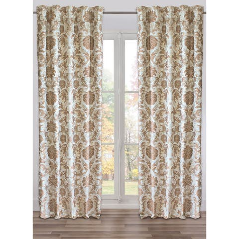 Ready-Made, Fully Adjustable Drape Panel Colbert Silver - 48 X 118 Inches