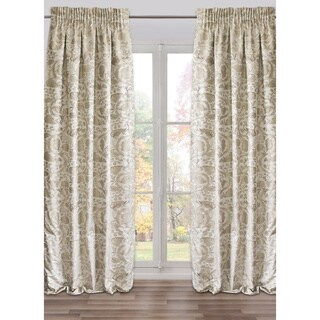 Brighella Silver Ready-Made Fully Adjustable Drape Panel (48 x 118 Inches)