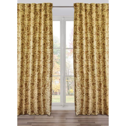 Ready-Made, Fully Adjustable Drape Panel Brighella Sandy/Taupe - 48 X 118 Inches