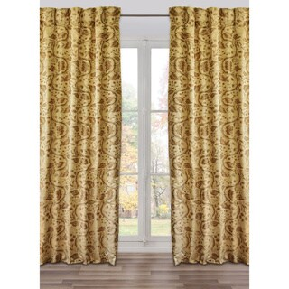 Ready-Made, Fully Adjustable Drape Panel Brighella Sandy/Taupe - 48 X 118 Inches - N/A