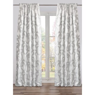 Drape Knossos Grey, Lined, Made in USA, Italian Fabric (48 X 118 In)