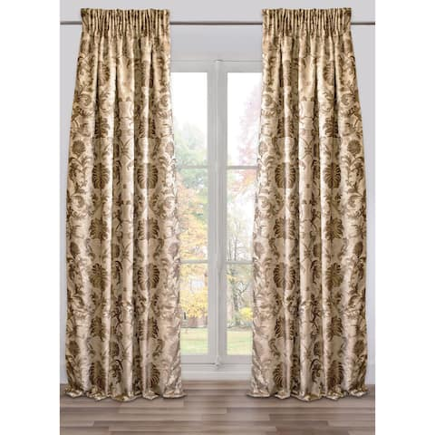 Ready-Made, Fully Adjustable Drape Panel Colbert Taupe - 48 X 118 Inches