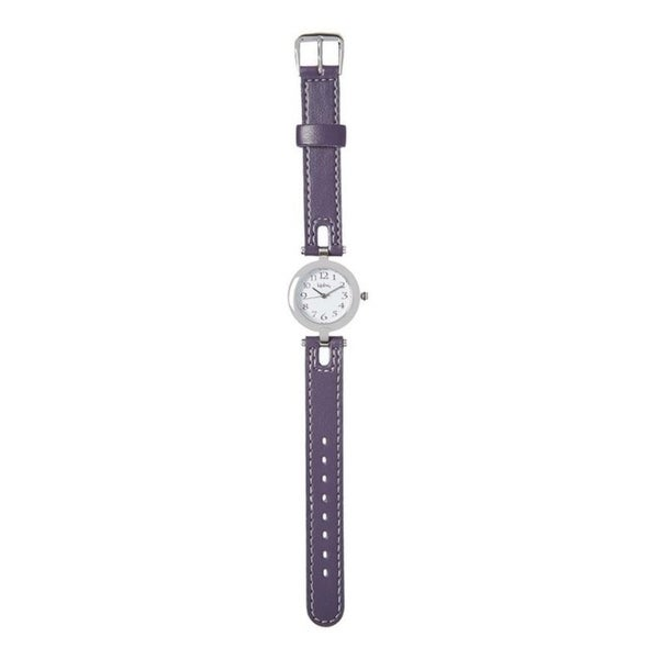 Kipling Kids Purple Leather Quartz Watch