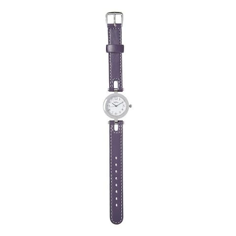 Kipling Kids Purple Leather Quartz Watch