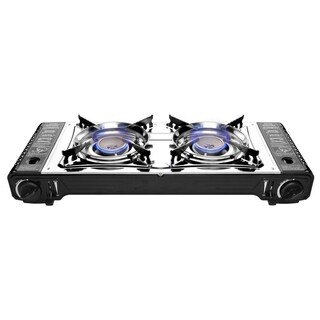 Wee's Beyond 7801-DD Portable Double Burner Gas Stove - Black