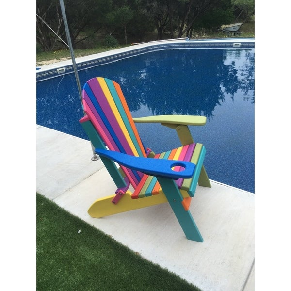 Phenomenal Shop Folding Fanback Adirondack Chair Confetti Color W Cup Download Free Architecture Designs Pushbritishbridgeorg