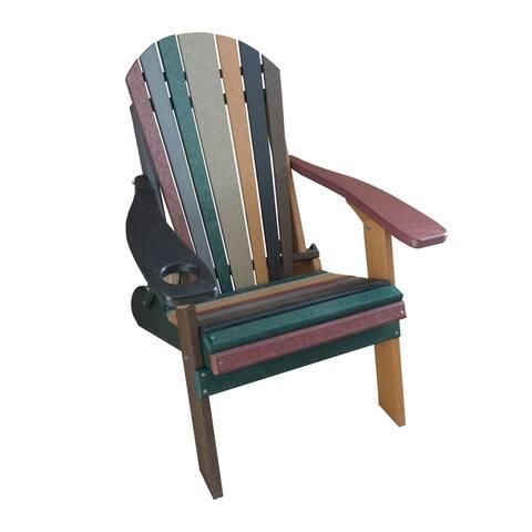 Folding Adirondack Chair - Fanback Style - Earth Tone