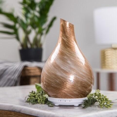 SpaRoom Bliss Gold Handblown Glass Ultrasonic Essential Oil Diffuser