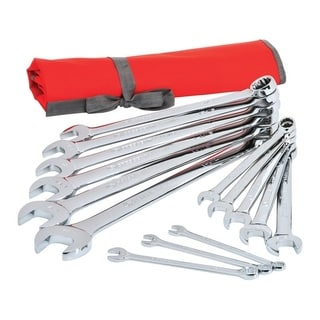 Crescent  14 pc. Chrome  SAE  Combination  Wrench Set