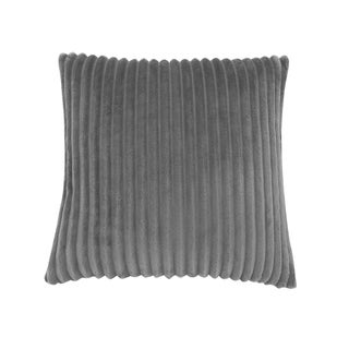 "Pillow - 18""X 18"" / Black Ultra Soft Ribbed Style / 1Pc"
