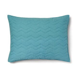 Cheryl Cotton Teal Chevron Sham