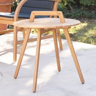 Harper Blvd Purley Natural Round Outdoor Side Table