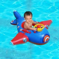 Inflatable Floating Airplane With Steering Wheel