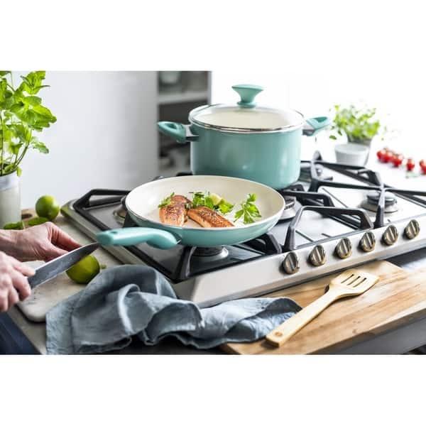 Greenpan Frying Pan 10 Inch Turquoise