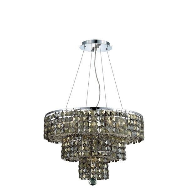 Fleur Illumination Collection Chandelier D:20in H:16in Lt:9 Chrome Finish