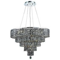 Fleur Illumination Collection Chandelier D:26in H:20in Lt:14 Chrome Finish