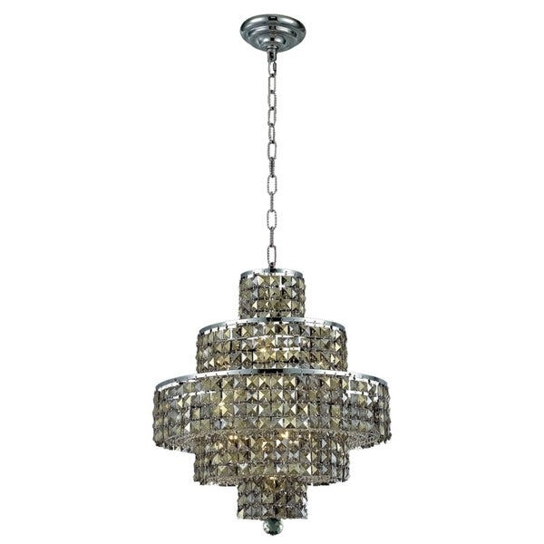 Fleur Illumination Collection Chandelier D:20in H:21in Lt:13 Chrome Finish