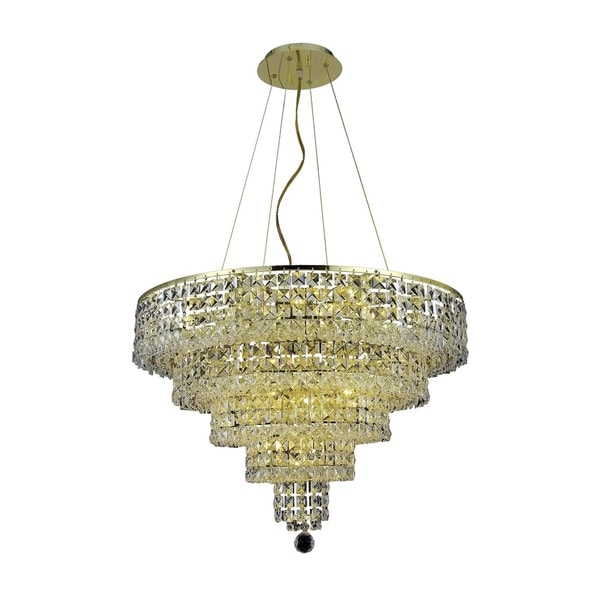 Fleur Illumination Collection Chandelier D:26in H:20in Lt:14 Gold Finish