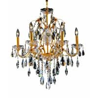Fleur Illumination Collection Chandelier D:24in H:21in Lt:6 Gold Finish