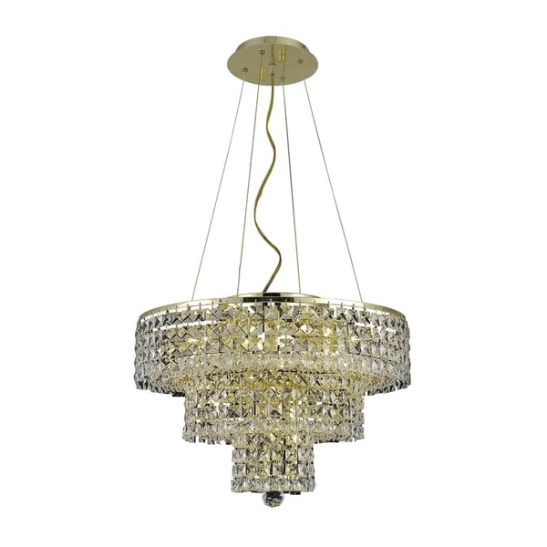 Fleur Illumination Collection Chandelier D:20in H:16in Lt:9 Gold Finish