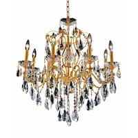 Fleur Illumination Collection Chandelier D:26in H:23in Lt:8 Gold Finish