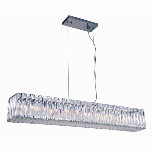 Fleur Illumination Colloection Chandelier L:47.7 in W:7.5in H:7in Lt:11 Chrome Finish - royal cut crystals