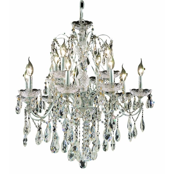 Fleur Illumination Collection Chandelier D:28in H:28in Lt:12 Chrome Finish