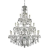 Fleur Illumination Collection Chandelier D:36in H:49in Lt:24 Chrome Finish