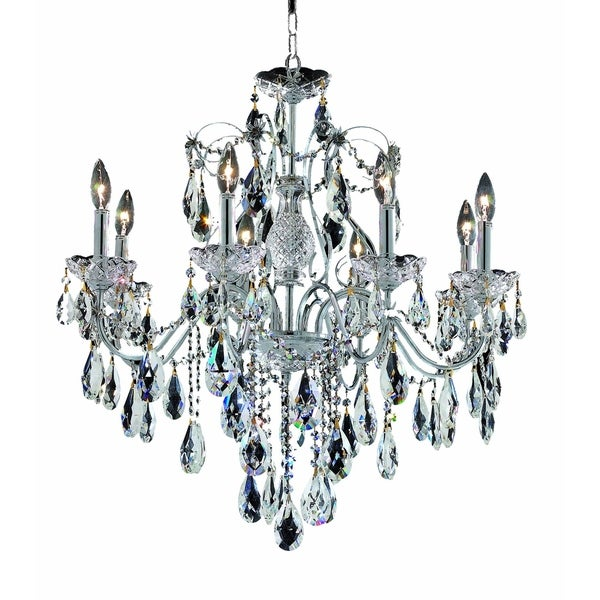 Fleur Illumination Collection Chandelier D:26in H:23in Lt:8 Chrome Finish