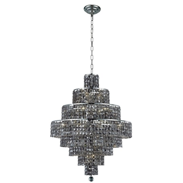 Fleur Illumination Collection Chandelier D:26in H:35in Lt:18 Chrome Finish