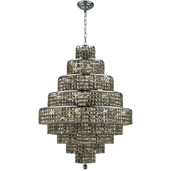 Fleur Illumination Collection Chandelier D:30in H:41in Lt:20 Chrome Finish