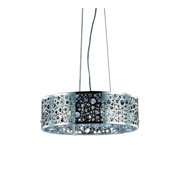 Fleur Illumination Collection Pendant D:20in H:7.7in Lt:6 Chrome Finish - royal cut crystals