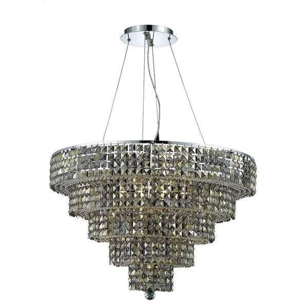 Fleur Illumination Collection Chandelier D:30in H:22in Lt:17 Chrome Finish
