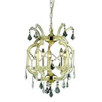 Fleur Illumination Collection Gold-finished Steel/Glass Pendant