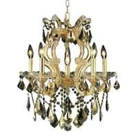 Fleur Illumination Collection Pendant D:20in H:25in Lt:6 Gold Finish