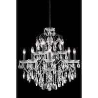 Fleur Illumination Collection Chandelier D:28in H:28in Lt:12 Dark Bronze Finish