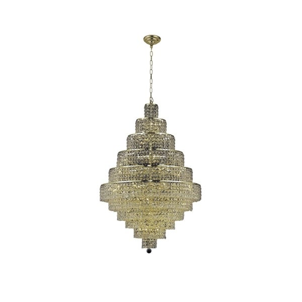 Fleur Illumination Collection Chandelier D:32in H:48in Lt:30 Gold Finish