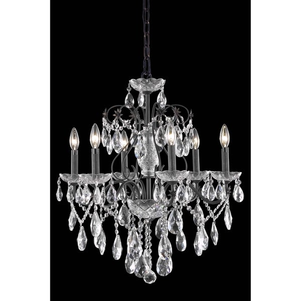 Fleur Illumination Collection Chandelier D:24in H:21in Lt:6 Dark Bronze Finish