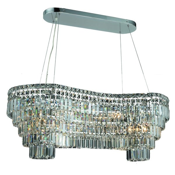 Fleur Illumination Collection Chandelier L:40 in W:16in H:13in Lt:14 Chrome Finish