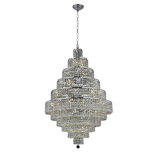 Fleur Illumination Collection Chandelier D:32in H:48in Lt:30 Chrome Finish