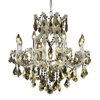 Fleur Illumination Collection Chandelier D:26in H:26in Lt:9 Chrome Finish