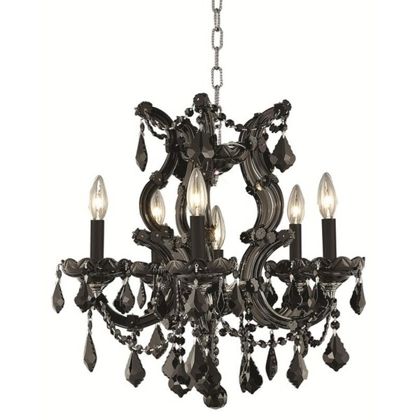 Fleur Illumination Collection Pendant D:20in H:25in Lt:6 Black Finish