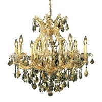 Fleur Illumination Collection Chandelier D:26in H:26in Lt:9 Gold Finish