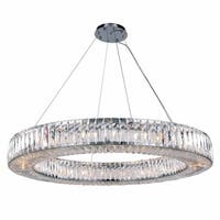 Fleur Illumination Collection Chandelier D:43in H:5.11in Lt:24 Chrome Finish - royal cut crystals
