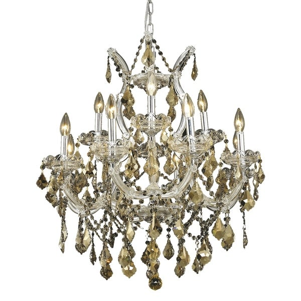 Fleur Illumination Collection Chandelier D:27in H:26in Lt:13 Chrome Finish