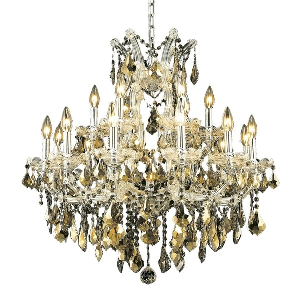 Fleur Illumination Collection Chandelier D:30in H:28in Lt:19 Chrome Finish