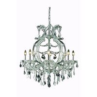 Fleur Illumination Collection Chandelier D:28.5in H:32.5in Lt:8 Chrome Finish