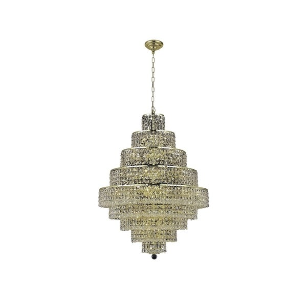 Fleur Illumination Collection Chandelier D:30in H:41in Lt:20 Gold Finish